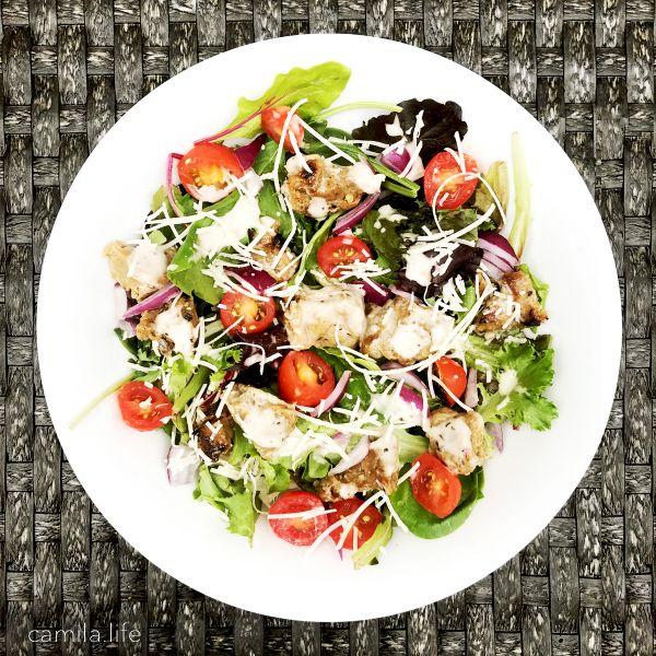Grilled Chicken Caesar LOVE - Vegan Recipe on camila.life