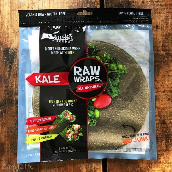 Raw Kale Wraps - Vegan Ingredient on camila.life