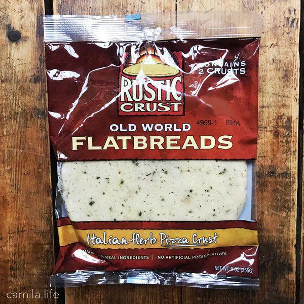 Old World Flatbreads - Italian Herb Pizza Crust - Vegan Ingredient on camila.life