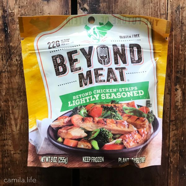 Lightly Seasoned Chicken Strip - Vegan Ingredient on camila.life
