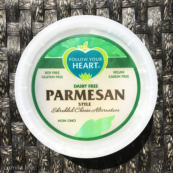 Parmesan Shredded Cheese - Vegan Ingredient on camila.life