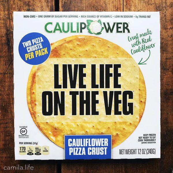 Cauliflower Pizza Crust - Vegan Ingredient on camila.life